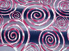 Ткань трикотаж скуба креп спираль, красный
