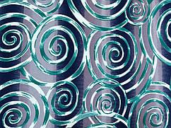 Ткань трикотаж скуба креп спираль 3д, зеленый