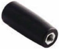 Ручка-цилиндр для твердотопливного котла прямая М8 с внутр. резьбой (карболит, L-40, Ø17мм)