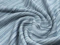 Ткань трикотаж летний полосочка, серый