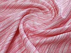 Ткань трикотаж летний полосочка, красный