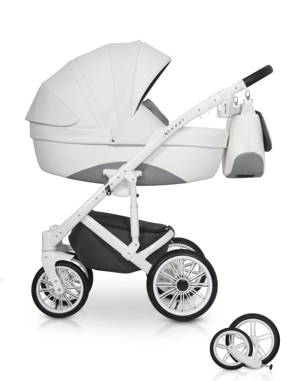 Детская универсальная коляска 2 в 1 Expander Xenon 01 White