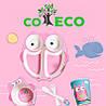 Набор детской посуды из бамбукового волокна CoEco Сова, фото 2