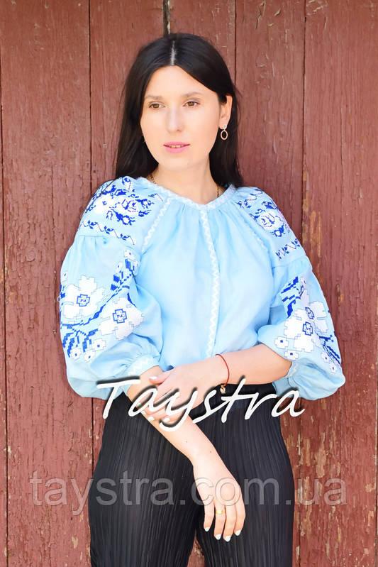 Блузка бохо вышитая, вышиванка лен, этно стиль, Bohemia