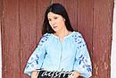 Блузка бохо вышитая, вышиванка лен, этно стиль, Bohemia, фото 7