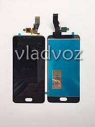 Дисплей модуль экран с сенсором для замены на Meizu M5s mini LCD черный