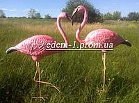 Садовая фигура Фламинго на металлических лапах