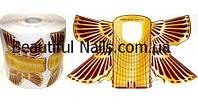 Форма для наращивания ногтей двойная( широкая) крылья ,500 штук в рулоне
