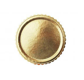 Піднос під торт круглий золотий D 34 см, h 3 мм, 50 шт