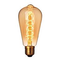 Лампа Эдисона E27 ST64-В 40W 2700K Amber