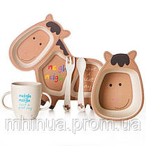 Набор детской посуды из бамбукового волокна CoEco Пони, фото 2