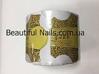 Форма для наращивания ногтей золотая( леопард)