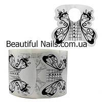 Форма для наращивания ногтей широкая(черная)бабочка, фото 1