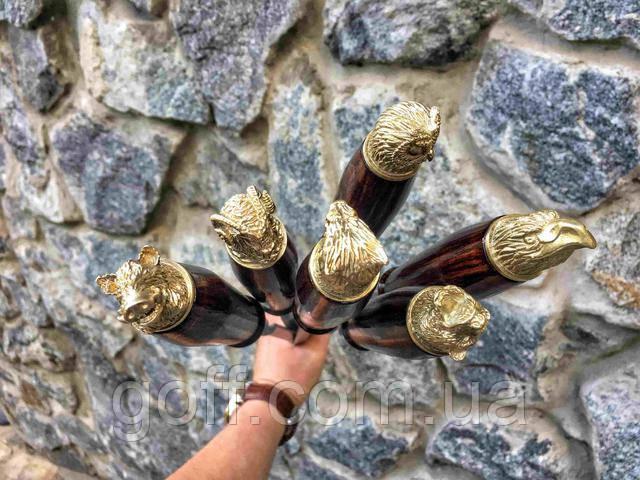 Шампура с бронзовыми вставками животных
