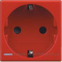 Axolute Розетка 2К+З, 10/16 А 250 В с боковыми заземляющими контактами Schuko, с экранированными контактами