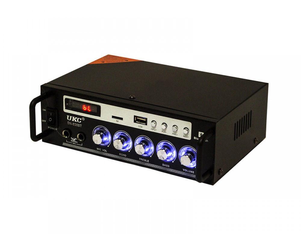 Усилитель-караоке UKC SN-838BT Черный (sp4004)