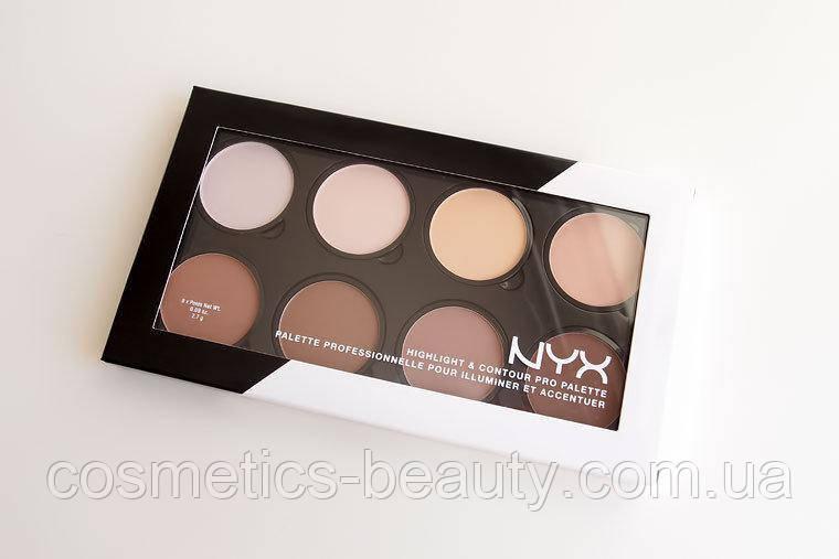 Корректоры сухие для лица Nyx Highlight&Contour Pro Palette (реплика).