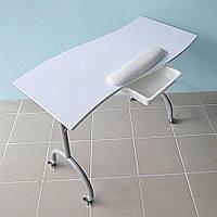 """Маникюрный стол складной с выдвижным ящиком Wave белый """"ДенІС professional"""""""