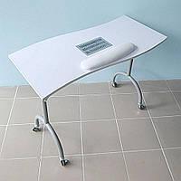 """Маникюрный стол складной с вытяжкой Wave+ белый """"ДенІС professional"""""""