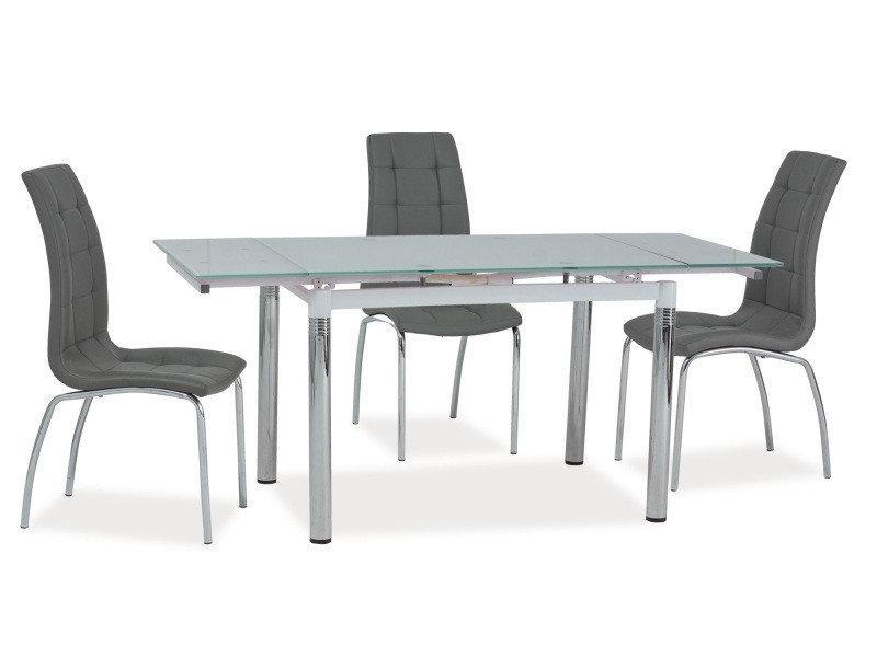 Стол стеклянный раскладной GD-018 (110-170) Белый
