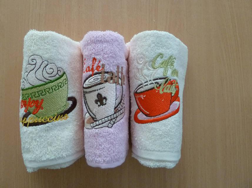 "Кухонные полотенца набор ""ÇAPA HOME"", вышивка кофе"