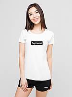 Женский комплект Supreme футболка+шорты, фото 1