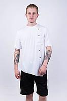 "Мужская футболка ""Dark Side"" all white buttons"