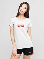 Жіночий комплект Supreme rip n dip футболка+шорти, супрім, фото 1