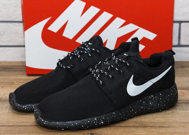 Кроссовки мужские Nike Roshe Run 10991  найк найки обувь черные найк