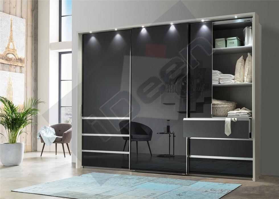 Шкаф купе крашенные панели, стекло - 01