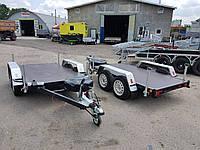 Прицеп платформа низкая 2,8м х 1,5м. Два тормозных торсиона.