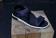 Кожаные мужские сандалии Nike Синие