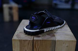 Кожаные мужские сандалии Nike Синие, фото 3