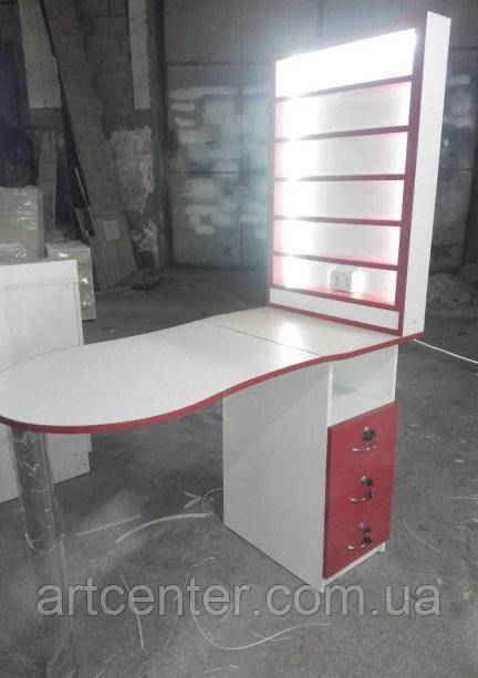 Стол для маникюра с витриной для лаков, маникюрный стол