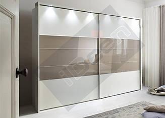 Шкаф купе крашенные панели, стекло - 02