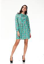Летнее платье с цветочным принтом. П121