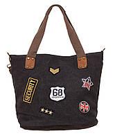 Красивая женская сумка с нашивками 68