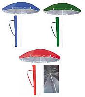 Зонт пляжный садовый с наклоном, диаметр 1,8 м
