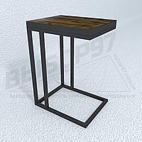 """Прикроватный столик в стиле лофт """"АДЭЛЬ"""". Стол на металлокаркасе."""