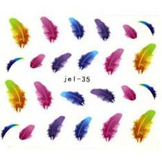 KATTi Наклейки водные JEL 035 цв перья