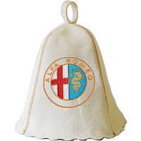 Шапка для сауны с вышивкой 'Альфа Ромео', Saunapro