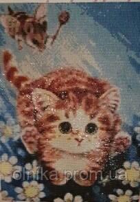 """Набір для творчості diamond mosaic алмазна живопис """"Кошеня в польоті"""""""