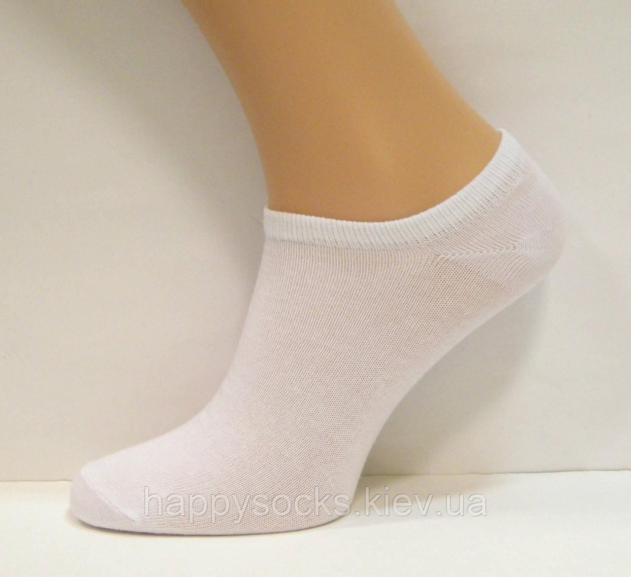 Очень короткие женские носки белого цвета