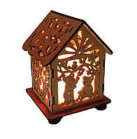 Соляной светильник дом куб мишки
