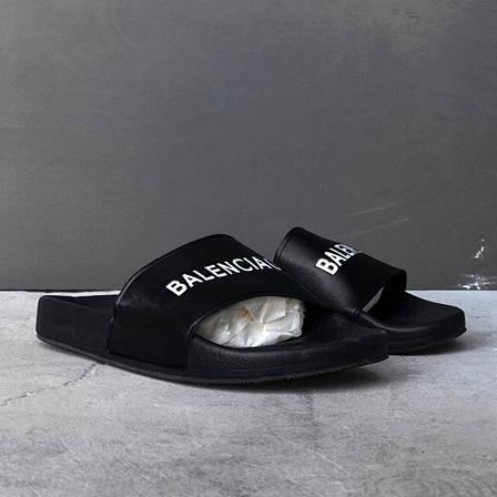 Женские шлепанцы\сланцы Balenciaga Slippers Suede Black (Реплика AAA+) , фото 2