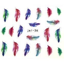 KATTi Наклейки водные JEL 036 цв перья, фото 2