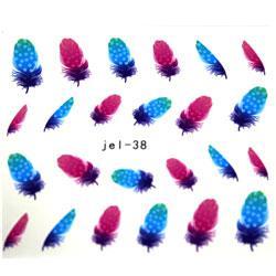 KATTi Наклейки водные JEL 038 цв перья