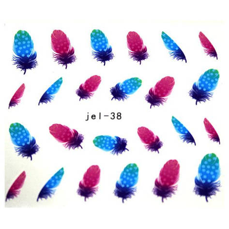 KATTi Наклейки водные JEL 038 цв перья, фото 2