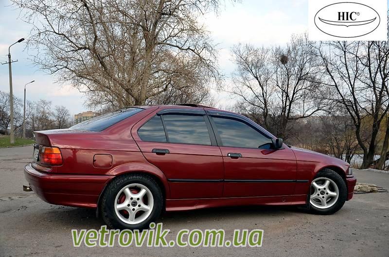 Ветровики на БМВ Е36 1992-1998 Седан Хик накладные