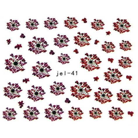 KATTi Наклейки водные JEL 041 цв перья, фото 2